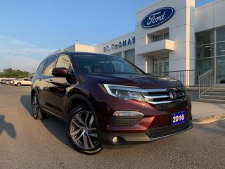 Used 2016 Honda Pilot Touring AWD/Leather/Navi/Roof/7 Passenger for sale in St Thomas, ON