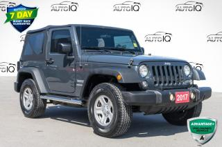 Used 2017 Jeep Wrangler Sport SOFT TOP AIR CONDITIONING for sale in Innisfil, ON
