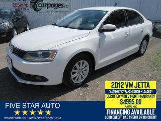 Used 2012 Volkswagen Jetta Comfortline - Certified w/ 6 Month Warranty for sale in Brantford, ON