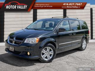 Used 2013 Dodge Grand Caravan Crew Plus SUNROOF / NAVIGATION / DVD / LEATHER! for sale in Scarborough, ON