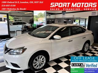 Used 2017 Nissan Sentra SV+Roof+Camera+New Tires & Brakes+Accident Free for sale in London, ON
