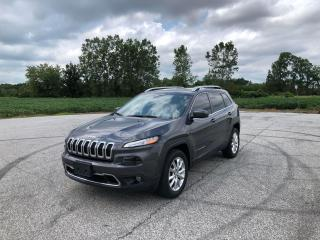 Used 2016 Jeep Cherokee Limited for sale in Windsor, ON