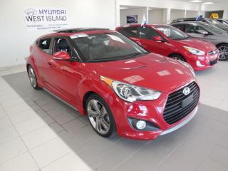 Used 2013 Hyundai Veloster TURBO MAN TOIT MAGS CUIR NAV CAMÉRA for sale in Dorval, QC