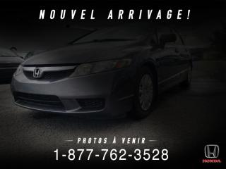 Used 2011 Honda Civic DX-A + A/C + MANUEL + BAS KILOS + WOW! for sale in St-Basile-le-Grand, QC