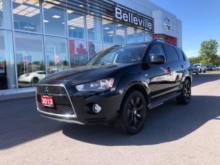 Used 2013 Mitsubishi Outlander ES AWD, HEATED LEATHER SEATS, SUNROOF, LOCAL TRADE for sale in Belleville, ON