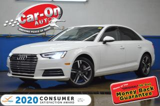 Used 2017 Audi A4 2.0T Technik LEATHER NAV SUNROOF REAR CAM HTD SEAT for sale in Ottawa, ON