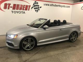 Used 2015 Audi A3 S-LINE, Cabriolet quattro 2.0T Technik for sale in St-Hubert, QC