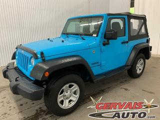 Used 2018 Jeep Wrangler Sport 4x4 A/C Toit Convertible for sale in Trois-Rivières, QC