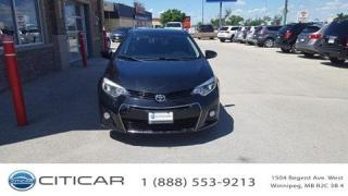 Used 2015 Toyota Corolla 2015 TOYOTA COROLLA S*BLUETOOTH*CAM* LEATHER*ROOF for sale in Winnipeg, MB