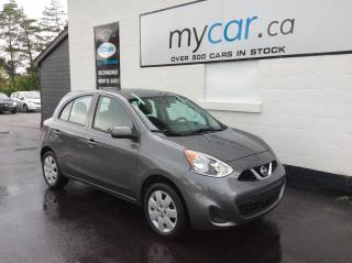 Used 2017 Nissan Micra SV BLUETOOTH, A/C, LOW KM'S!!!! for sale in Kingston, ON