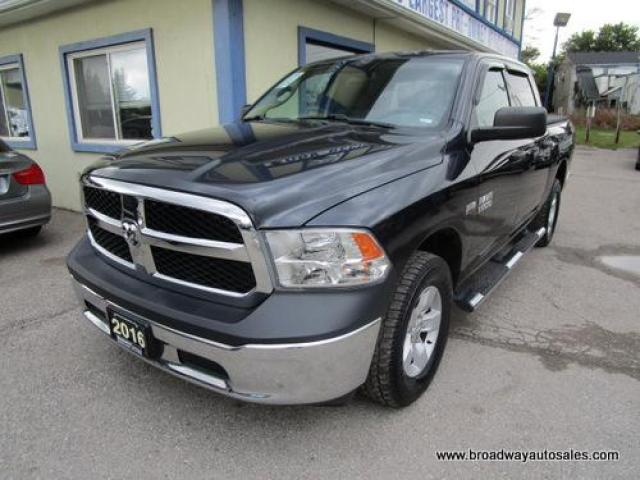 2016 Dodge Ram 1500 LIKE NEW TRADESMEN EDITION 6 PASSENGER 5.7L - HEMI.. 4X4.. CREW-CAB.. SHORTY.. AUX/USB INPUT.. TOW SUPPORT.. TRAILER BRAKE.. KEYLESS ENTRY..