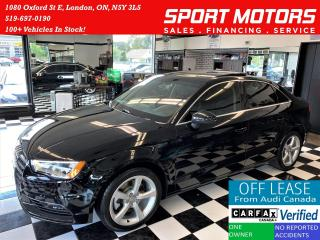 Used 2016 Audi A3 1.8T S-Tronic+NewBrakes+Roof+Leather+Accident Free for sale in London, ON