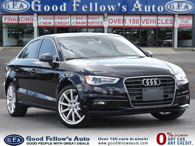 2016 Audi A3 LEATHER & POWER SEATS, PARKING ASSIST, SUNROOF