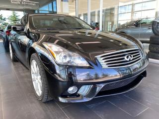 Used 2012 Infiniti G37 Coupe SPORT, ACCIDENT FREE, POWER HEATED LEATHER SEATS, NAVI for sale in Edmonton, AB