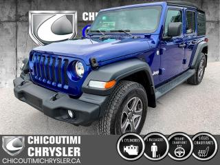Used 2019 Jeep Wrangler Sport 4X4 for sale in Chicoutimi, QC