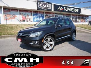 Used 2016 Volkswagen Tiguan Highline  R-LINE AWD NAV PANO LEATH CAM for sale in St. Catharines, ON