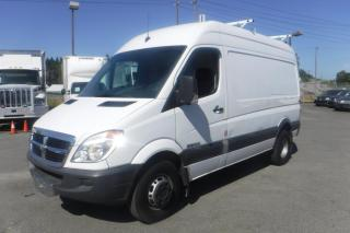 Used 2008 Dodge Sprinter 3500 144-in. WB High Roof Dually Diesel Cargo Van with Ladder Rack & Rear Shelving for sale in Burnaby, BC