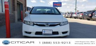 Used 2010 Honda Civic Sdn 2010 HONDA CIVIC SDN LX*SAFETIED*CLEAN TITLE*AC for sale in Winnipeg, MB