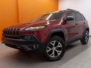 Used 2015 Jeep Cherokee TRAILHAWK 4X4 SIÈGES / VOLANT CHAUFF NAV *CUIR* for sale in Mirabel, QC