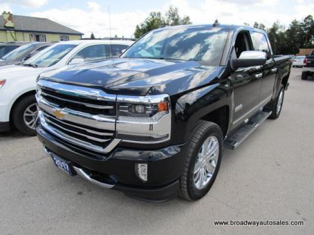 2017 Chevrolet Silverado 1500 LOADED HIGH-COUNTRY EDITION 5 PASSENGER 5.3L - V8.. 4X4.. CREW.. SHORTY.. NAVIGATION.. LEATHER.. HEATED/AC SEATS.. SUNROOF.. POWER MIRRORS & PEDALS..