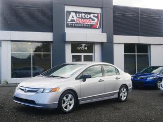 Used 2008 Honda Civic BERLINE + INSPECTÉ for sale in Sherbrooke, QC