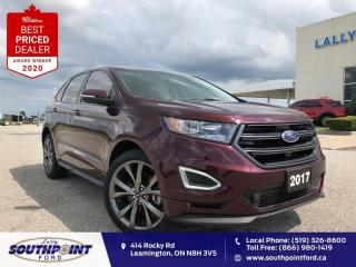 Used 2017 Ford Edge Sport AWD|Leather|HTD seats|Navi|Sunroof|Remote st for sale in Leamington, ON