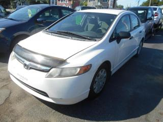 Used 2008 Honda Civic 4 portes, boîte automatique, DX for sale in Sorel-Tracy, QC