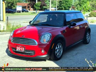 Used 2012 MINI Cooper Cpe|LOW KM|LEATHER|SUNROOF|PUSH START|CERTIFIED for sale in Oakville, ON