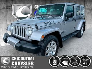 Used 2016 Jeep Wrangler Modèle Sahara 4 portes traction intégral for sale in Chicoutimi, QC