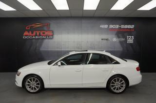 Used 2014 Audi A4 PROGRESSIV QUATTRO 2.0T AUTO + CUIR TOIT GPS NAVI for sale in Lévis, QC