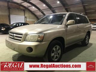 Used 2007 Toyota Highlander 4D Utility 4WD for sale in Calgary, AB