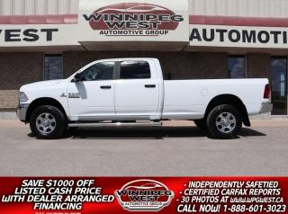 Used 2018 RAM 3500 SLT+ CREW  6.7L CUMMINS 4X4 - LOADED,  8FT BOX for sale in Headingley, MB