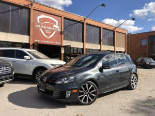 Used 2012 Volkswagen GTI HB LEATHER 6 SPEED MANUAL LOCAL CLEAN CARFAX for sale in North York, ON