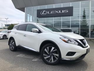 Used 2017 Nissan Murano Platinum AWD CVT (2) / NO Accidents, Local, ONE Ow for sale in North Vancouver, BC
