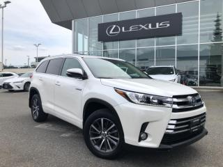 Used 2017 Toyota Highlander HYBRID XLE CVT / Local, ONE Owner, LOW KM for sale in North Vancouver, BC