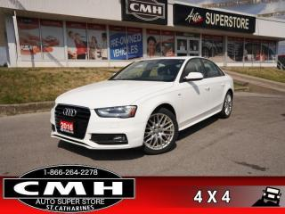 Used 2016 Audi A4 Komfort Plus Quattro  AWD ROOF P/SEATS HTD-STS for sale in St. Catharines, ON