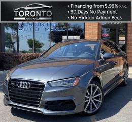 Used 2015 Audi A3 2.0T Premium Sedan quattro S tronic S-Line NAVI Sunroof Leather Remote Start One Owner Service History for sale in North York, ON