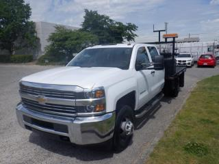 Used 2015 Chevrolet Silverado 3500HD Flat Deck  9 Foot Crew Cab 2WD for sale in Burnaby, BC