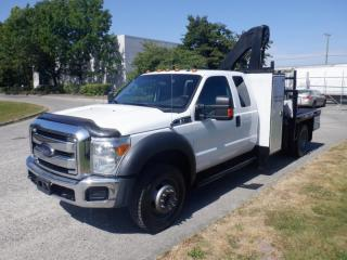 Used 2012 Ford F-550 Flat Deck 6.6 foot SuperCab Dually 4WD Crane for sale in Burnaby, BC