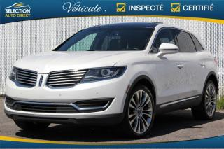 Used 2016 Lincoln MKX RESERVE AWD GPS Toit Pano for sale in Ste-Rose, QC