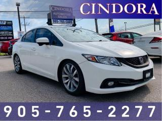 Used 2014 Honda Civic Sedan Touring, Leather, NAV, Roof, Bluetooth for sale in Caledonia, ON