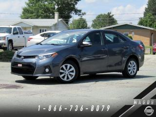 Used 2015 Toyota Corolla S + CAMÉRA + BLUETOOTH + A/C + BAS KILO! for sale in Magog, QC