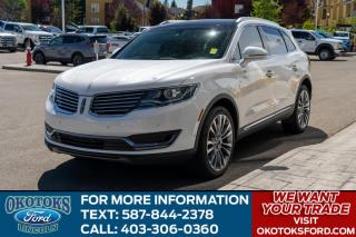 Used 2017 Lincoln MKX Reserve RESERVE/ROOF/NAV/2.7L for sale in Okotoks, AB