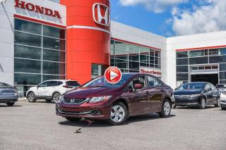 Used 2015 Honda Civic LX P5121 BOURGOGNE for sale in Terrebonne, QC