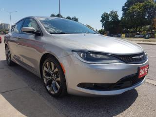 Used 2015 Chrysler 200 S-MINT-97K-LEATHER-NAVI-BK CAM-SUNMOON ROOF-ALLOYS for sale in Scarborough, ON