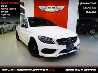 Used 2016 Mercedes-Benz C-Class C450 AMG RED INT   NAVI   CERTIFIED   FINANCE @ 4.65% for sale in Oakville, ON