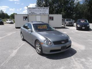 Used 2006 Infiniti G35 S for sale in Elmvale, ON