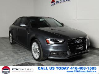 Used 2016 Audi A4 2.0T Quattro S-Line Sport Sunroof Leathr Certified for sale in Toronto, ON