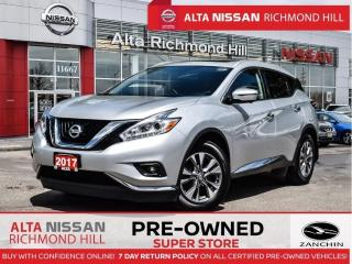 Used 2017 Nissan Murano SL   Leather   360   Pano   Remote Start   Navi for sale in Richmond Hill, ON