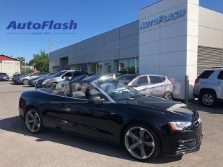 Used 2014 Audi A5 TECHNIK *CONVERTIBLE/DECAPOTABLE *GPS *CAMERA *B&O for sale in Saint-Hubert, QC